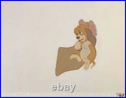 1981 Walt Disney The Fox And The Hound Copper Amos Slade Original Production Cel