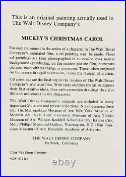 1983 Disney Mickey's Christmas Carol Scrooge Original Production Animation Cel