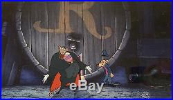 1986 Walt Disney Great Mouse Detective Ratigan Basil Original Production Cel