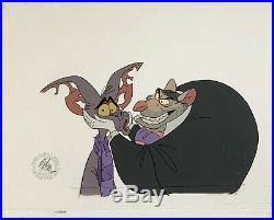 1986 Walt Disney Great Mouse Detective Ratigan Fidget Original Production Cel