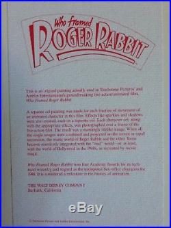 1988 Disney Who Framed Roger Rabbit Jessica Original Production Animation Cel
