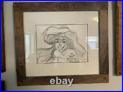 1988 Little Mermaid Production Drawing by Disney Legend Glen Keane Cel Celluloid