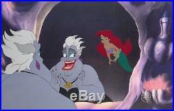 1989 Disney The Little Mermaid Ariel & Ursula Original Production Animation Cels