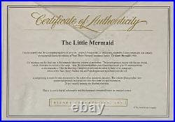 1989 Rare Disney Little Mermaid Ariel Original Production Animation Cel Setup