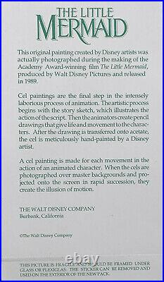 1989 Rare Disney The Little Mermaid Ariel Eels Original Production Animation Cel