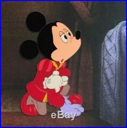 1990 Disney Prince & Pauper Mickey Mouse Original Production Animation Cel Setup