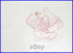 1991 Rare Disney Beauty And The Beast Original Production Animation Drawing Cel