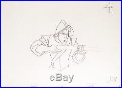 1995 Rare Walt Disney Pocahontas John Smith Original Production Drawing Cel