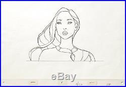 1995 Very Rare Walt Disney Pocahontas Original Production Animation Drawing Cel
