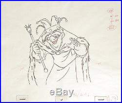 1996 Very Rare Disney Hunchback Of Notre Dame Original Production Drawing Cel