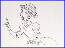 1999 Rare Disney Tarzan Jane Porter Original Production Animation Drawing Cel