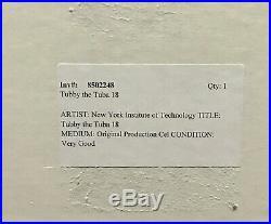 2! Disney Original Production Cel Tubby The Tuba Framed + Sketch Rare Nyit