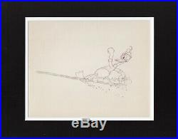2 LOT Donald Duck 1936 Production Animation Cel Drawing Disney Alpine Climbers