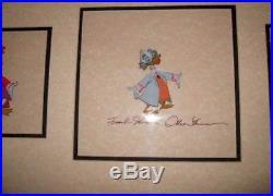 3 Ludwig Von Drake production Cel HAND signed Frank N Ollie Disney 1950s 1960s