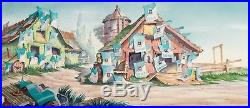 4 ft. Pan Production Background BILL POSTERS (1940) Disney cel Donald Duck Goofy