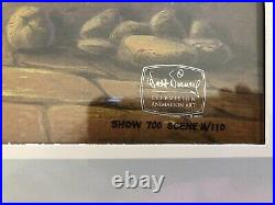 ALADDIN ORIGINAL CEL ART Walt Disney's TV Production + COA + Drawing
