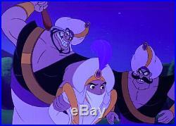 Aladdin- Aladdin and Guards Presentation Cel on Key Master Production Background