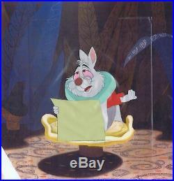 Alice In Wonderland Original Walt Disney Production Cel White Rabbit 1951