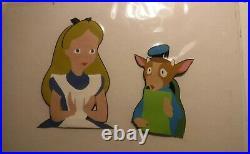 Alice in Wonderland Disney production cel Art Corner Mock Turtle 1950s New frame