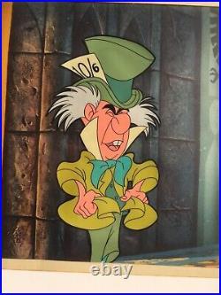 Alice in Wonderland Mad Hatter Disney Original Production Cel (1951)