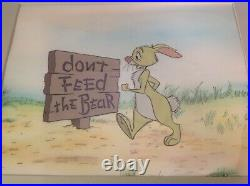 Animation Production Cel Disney's Winnie The Pooh Rabbit 2 Cel Setup + OBG
