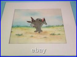 Animation Production Walt Disney Winnie The Pooh Eeyore 2 Cels+ Painted B. G