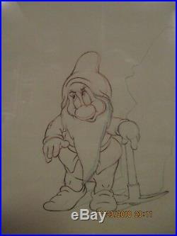 Bashful from Disney Snow White 1937 original production cel W COA