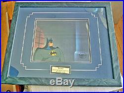 Batman Animated Series Origina hand paintedl Production cel COA-signed