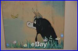 Beautiful Original Production Cel from Ferdinand the Bull. Walt Disney 1938