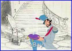 Cinderella Grand Duke and Glass Slipper Production Cel (Walt Disney, 1950) RARE