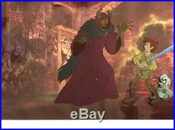 Classic Hand Painted Production Cel from Disney's The Black Cauldron