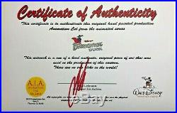 DARKWING DUCK Production Animation Cel&Background WithCertificate