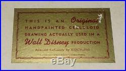 DISNEY 1950's DONALD DUCKORIGINALPRODUCTION ANIMATION CEL PAINTING-ART CORNER