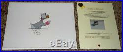 DISNEY 1960's LUDWIG VON DRAKE PRODUCTION ANIMATION ART CEL SET-NEAR MINT