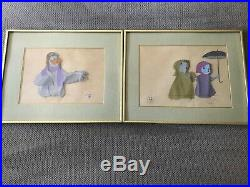 DISNEY 1977 THE RESCUERS CERTIFIED ORIGINAL HAND PAINTED PRODUCTION CEL Lot of 2