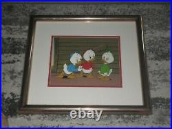 DISNEY DUCKTALES HUEY, DEWEY AND LOUIE ANIMATION CEL WithPRODUCTION BACKGROUND