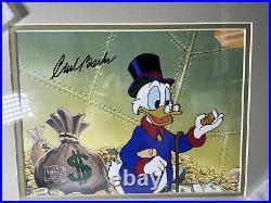 DISNEY Ducktales Original Production cel Scrooge Mcduck Framed Signed Carl Barks