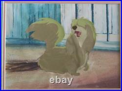 DISNEY STUDIOS PEG Scene from LADY & THE TRAMP Production Cel Hand Painted
