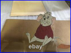 DISNEY The Rescuers Animation Production Cel Mr. Benard 1977
