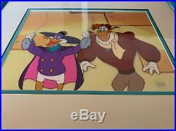 Darkwing Duck Framed Original Production Animation Cartoon Cel Rare