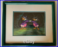 Darkwing Duck Framed Original Production Animation Cartoon Cel with COA Rare