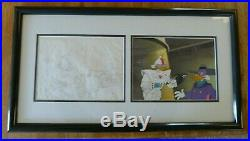 Darkwing Duck Original Production Cel and Clean up Drawing ONE OF A KIND- NEW