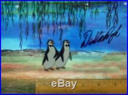 Dick Van Dyke signed Disney cel Mary Poppins 2 Penguin Art Corner Production cel