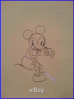 Disney 1933 Mickey Puppy Love Animation Art Production Cel Drawing Rare