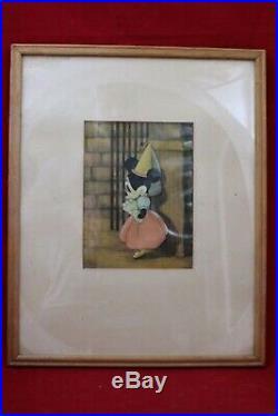 Disney 1938 Brave Little Tailor Mickey Minnie Original Production cel vintage