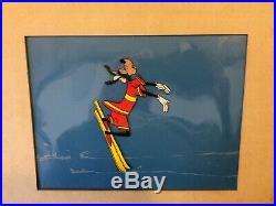 Disney 1961 Goofy Aquamania Production Cel with Orig Disneyland Art Corner Seal