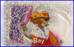 Disney 1973 Robin Hood Animated Movie Prince John & Sir Hiss Production Cel