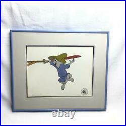 Disney 1973 Robin Hood Original Hand Paint Production Art Cel w COA Skippy