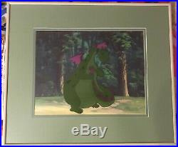 Disney 1977 Pete's Dragon Production Cel With Background