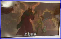 Disney 1985 Black Cauldron Horned King, Taran & Gurgi Animation Production Cel